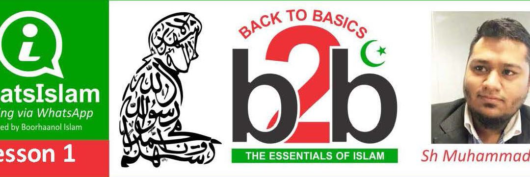 NEW WHATSISLAM COURSE – BACK TO BASICS (B2B)