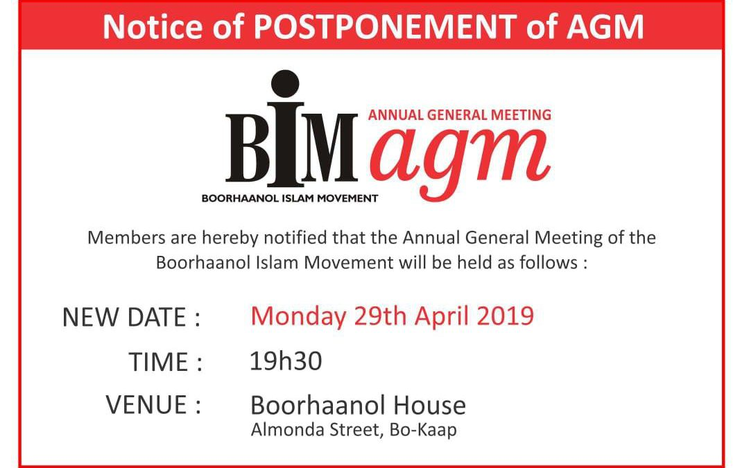 BIM AGM –  29 April – Boorhaanol House